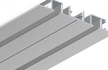 Double curtain track systems