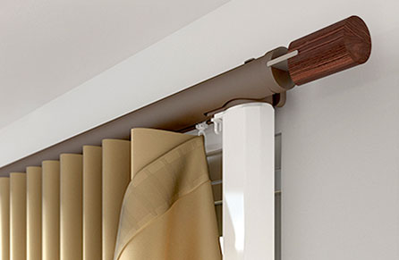 Electric curtain poles